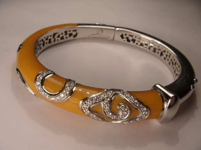 diamonds yellow with bangle three bangles layer cammilli product annamaria in dune gold bracelet