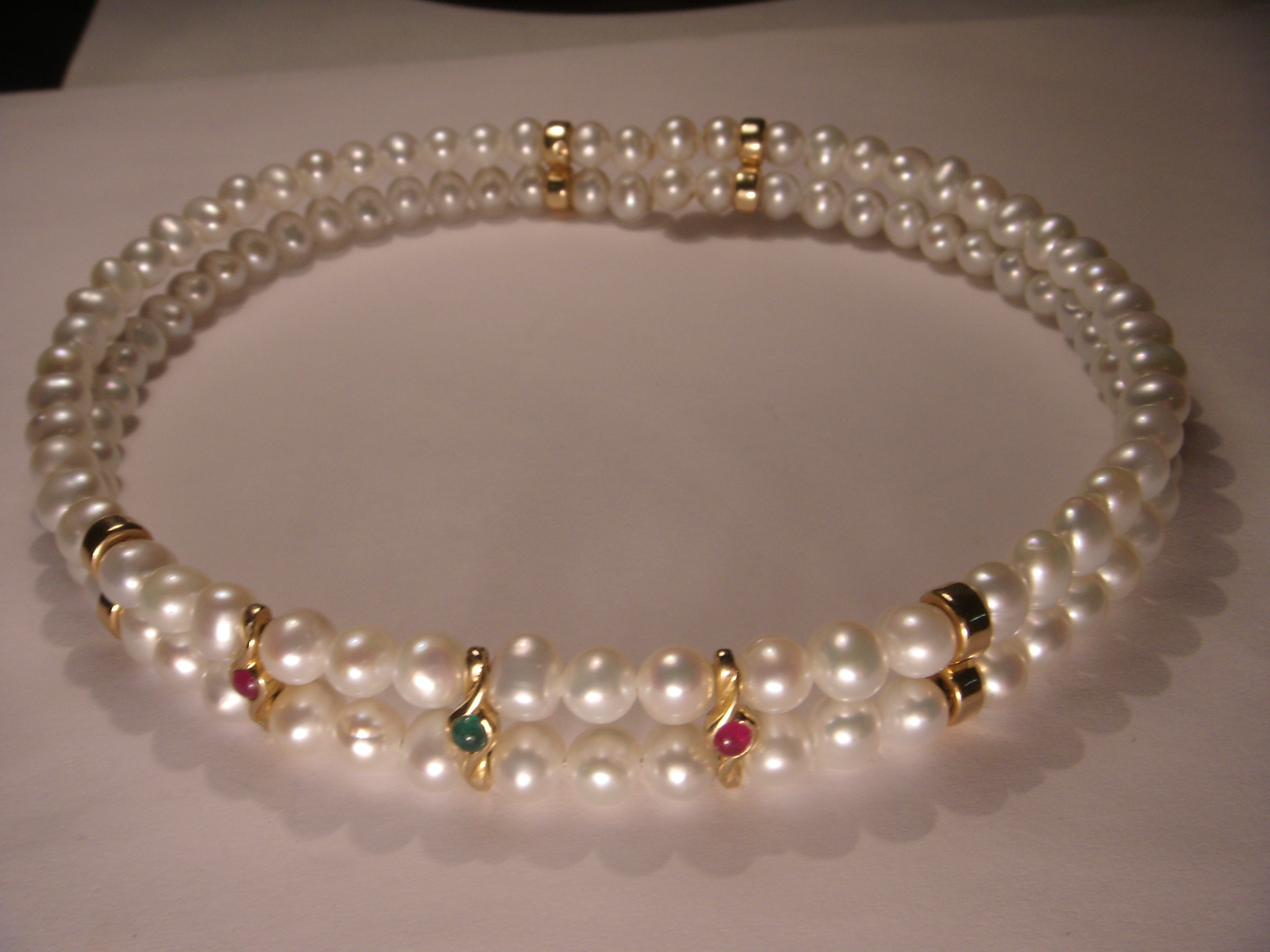 or core yellow bangle south w sea loop product gold single pearls pearl and white titanium allure