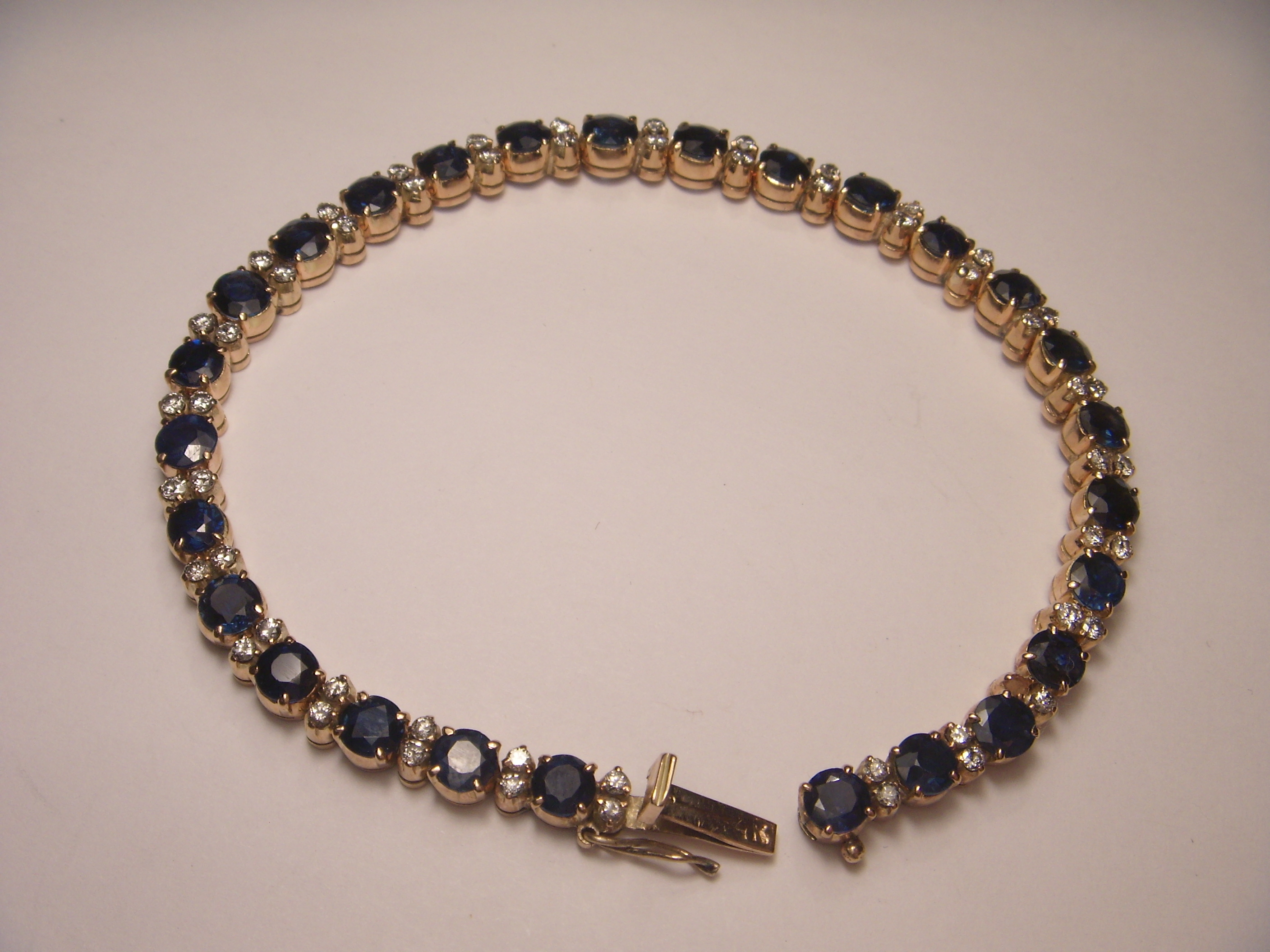 shipping miadora sterling silver product watches blue bracelet today sapphire gemstone jewelry and free overstock