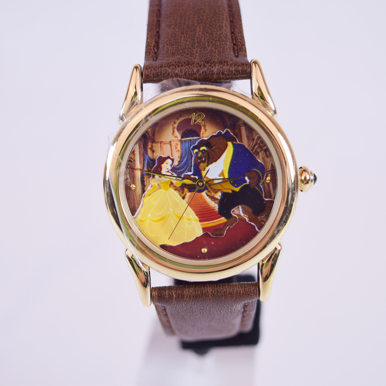 Disney Beauty And The Beast Leather Strap Everlasting Time