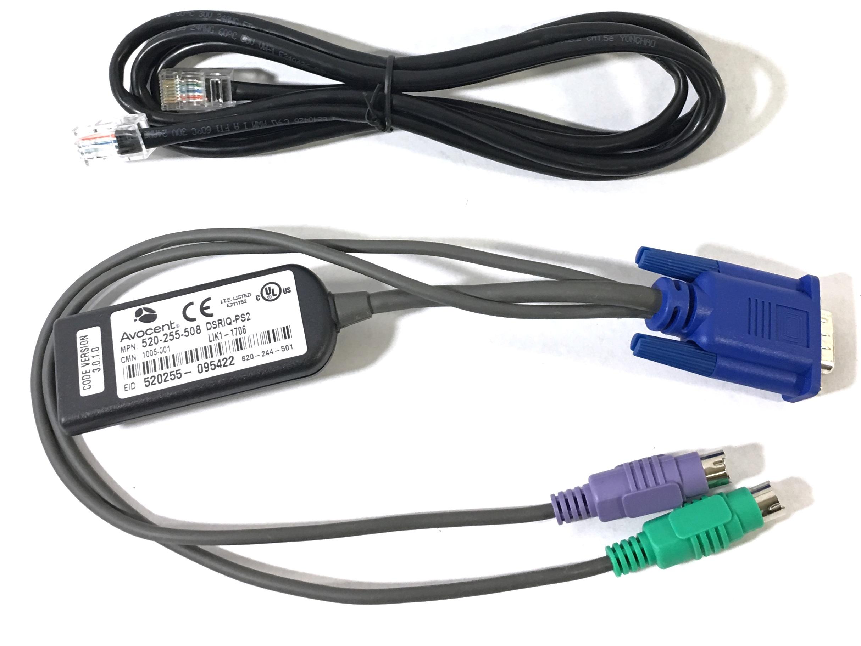 Avocent 520-255-508 DSRIQ-PS2 PS//2 VGA KVM Interface Cable Module