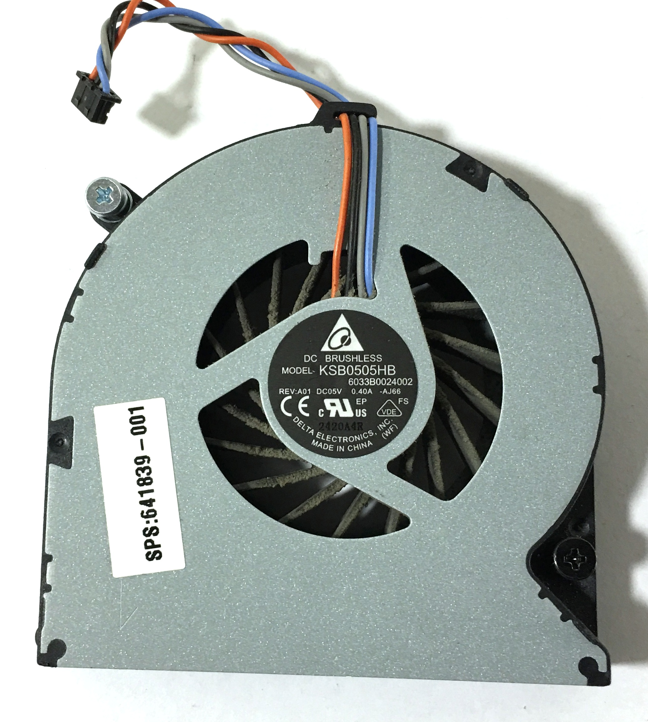 Details about Genuine HP Elitebook 8470p 8460p CPU Processor Cooling Fan  641839-001 KSB050HB