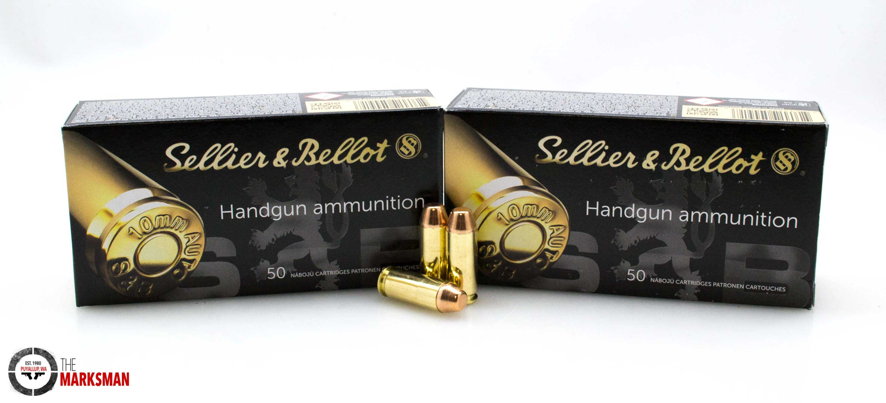 Sellier and Bellot 10mm 180 gr FMJ NEW 50 rounds-img-0