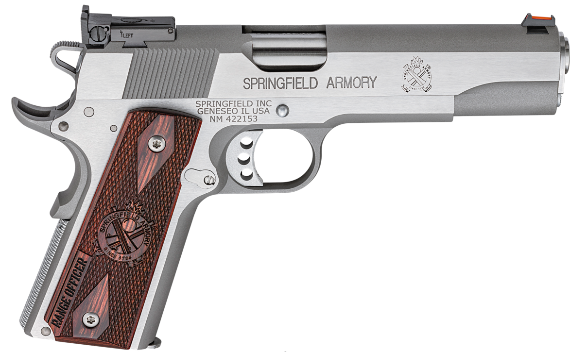 Springfield armory stainless 1911 45 acp 5 7 1rds semi for Springfield registry of motor vehicles