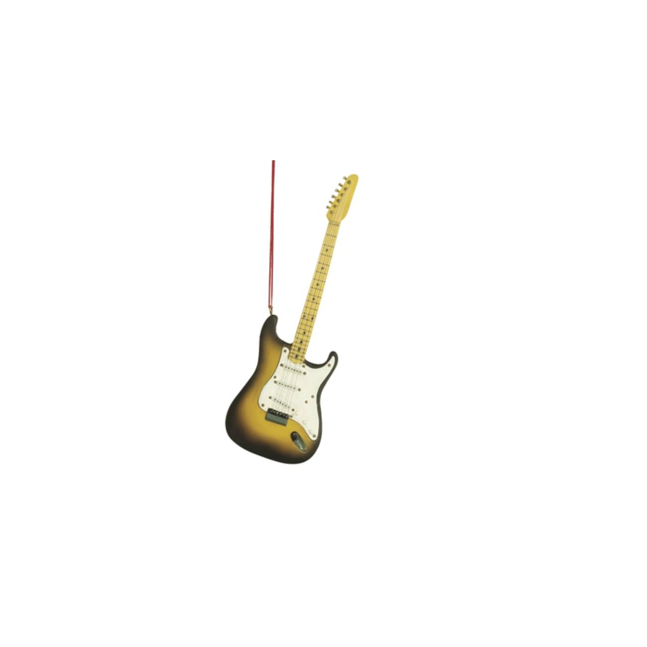 Guitar Fan Pull Black Ornament