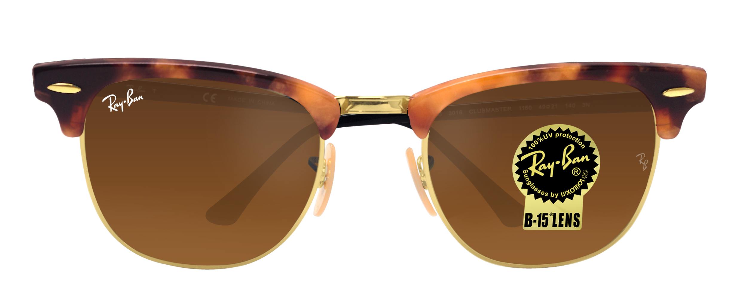 f366b426a51 Ray Ban Clubmaster Fleck Brown Classic - Bitterroot Public Library