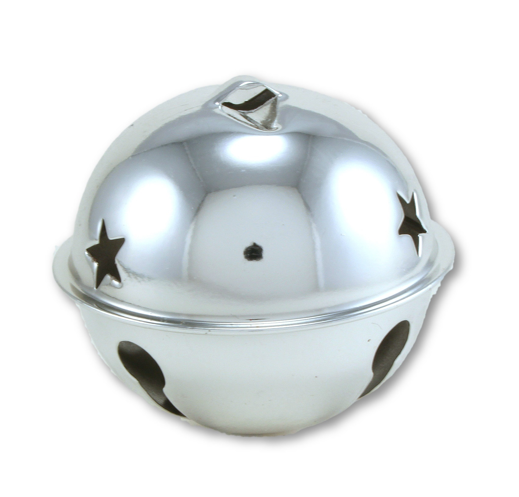 "Large Craft Jingle Bell w// Star Cutouts ~ 4 Colors Available 2.5/"" One 65mm"