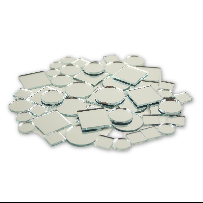 100 pcs 1 square mirror mosaic tile