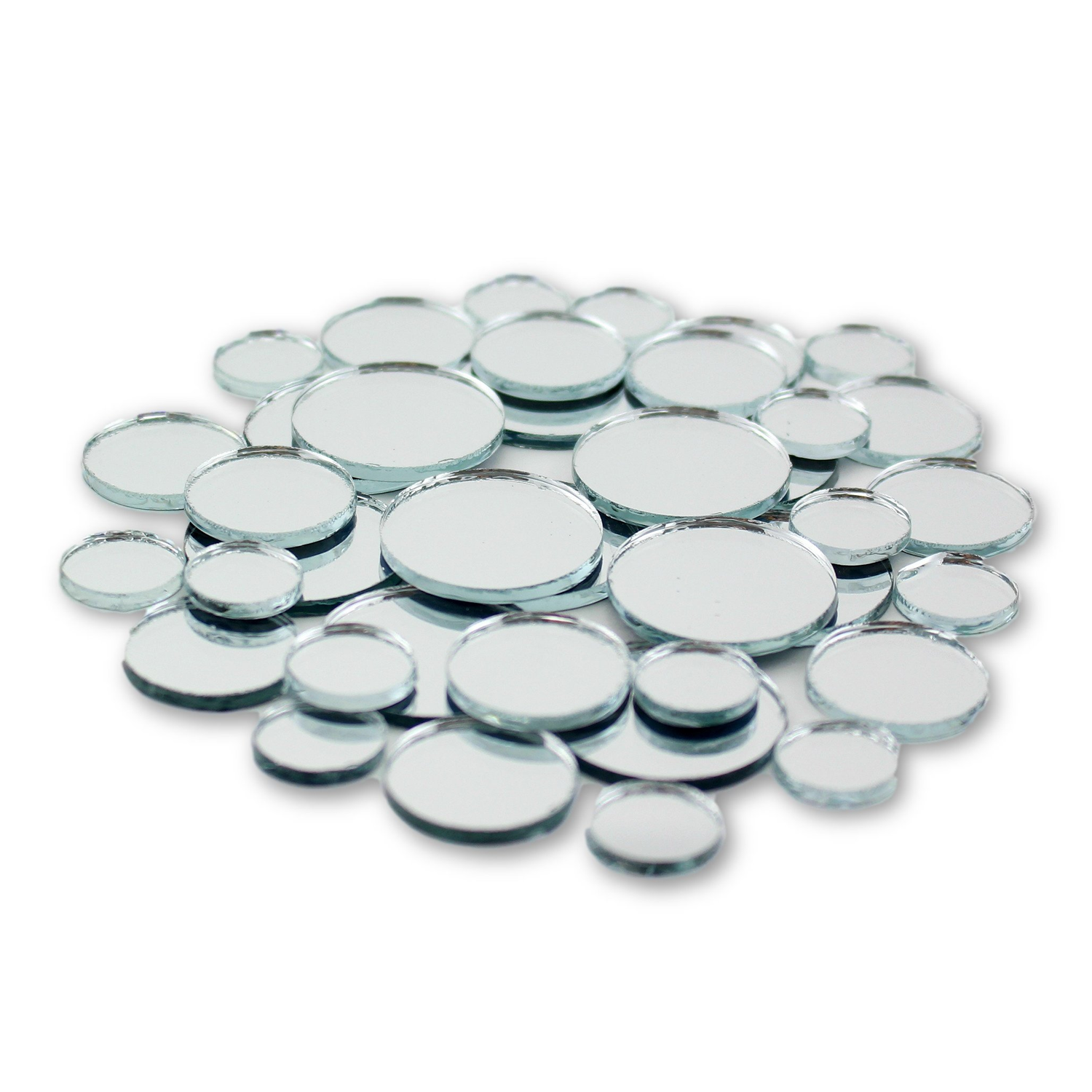 Small Mini Round Craft Mirrors Tile