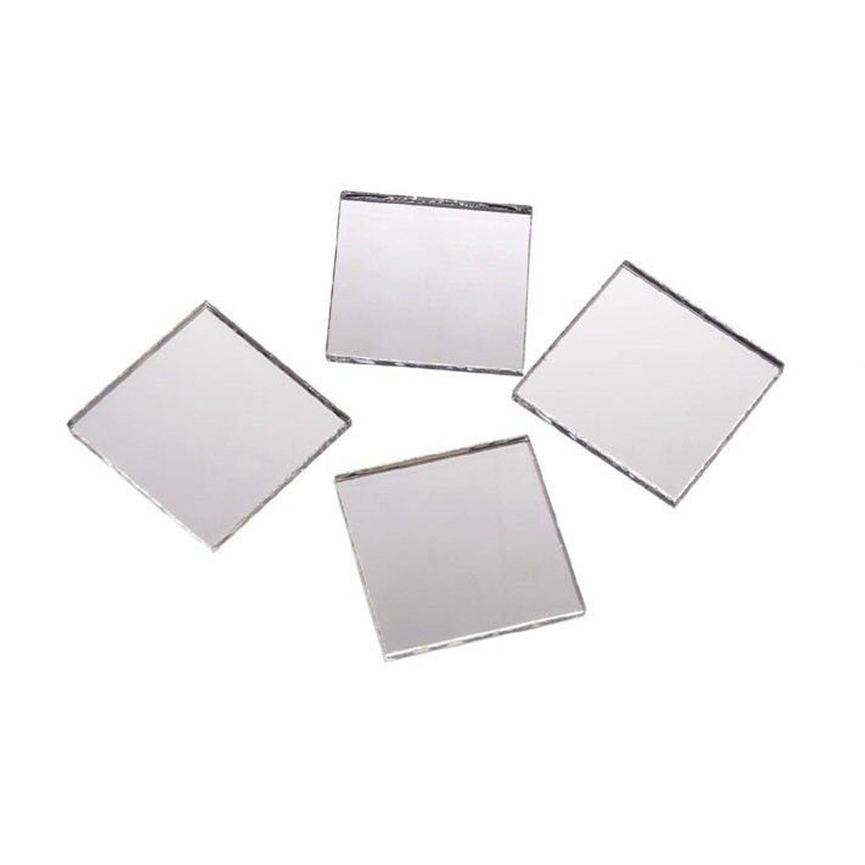 2 Inch Glass Craft Mini Square Mirrors 12 Pieces Square Mosaic Mirror Tiles 607963370364 Ebay
