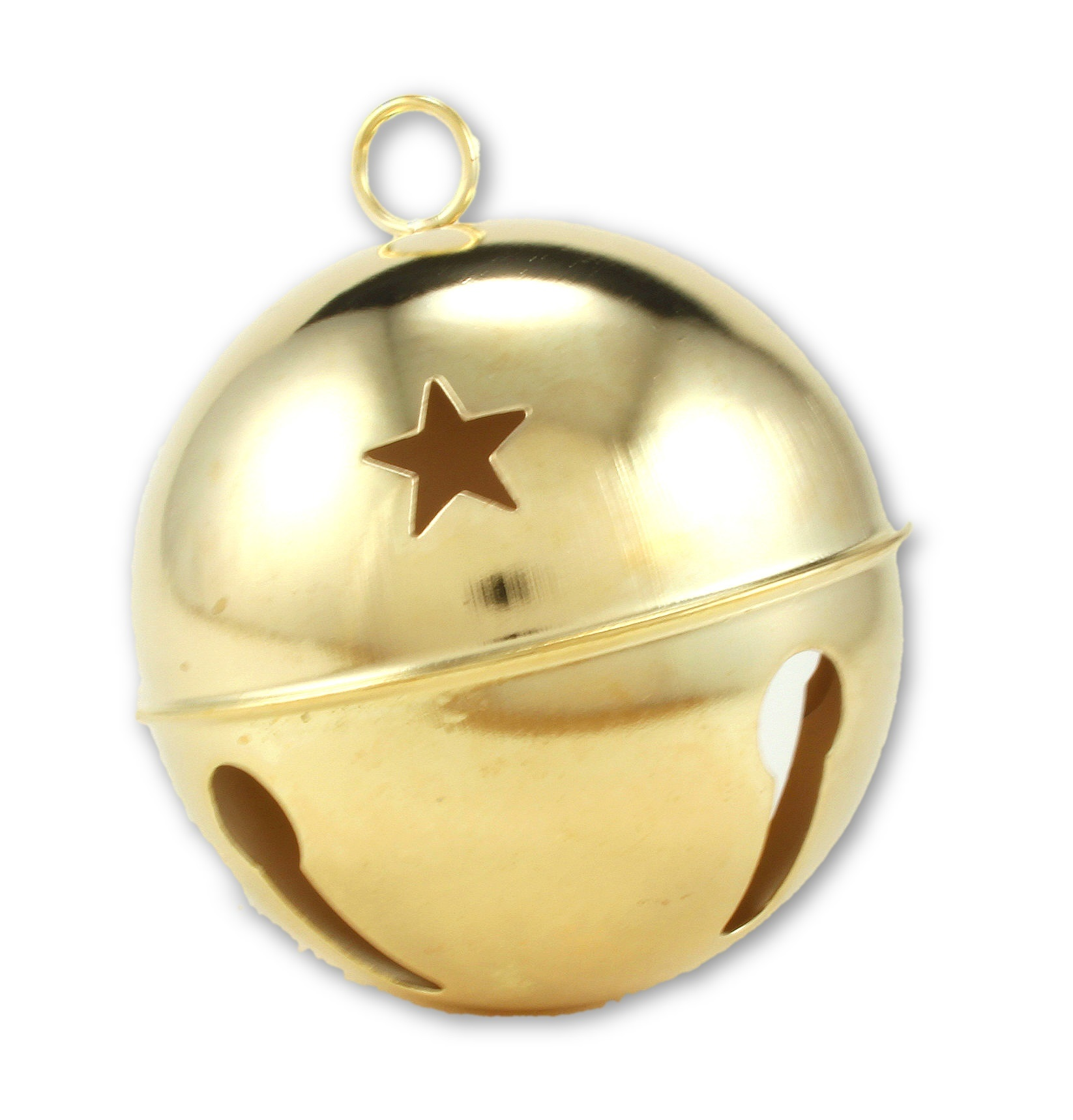 Christmas Bell.Details About 3 15 Inch 80mm Giant Jumbo Gold Jingle Bell With Stars 1 Piece