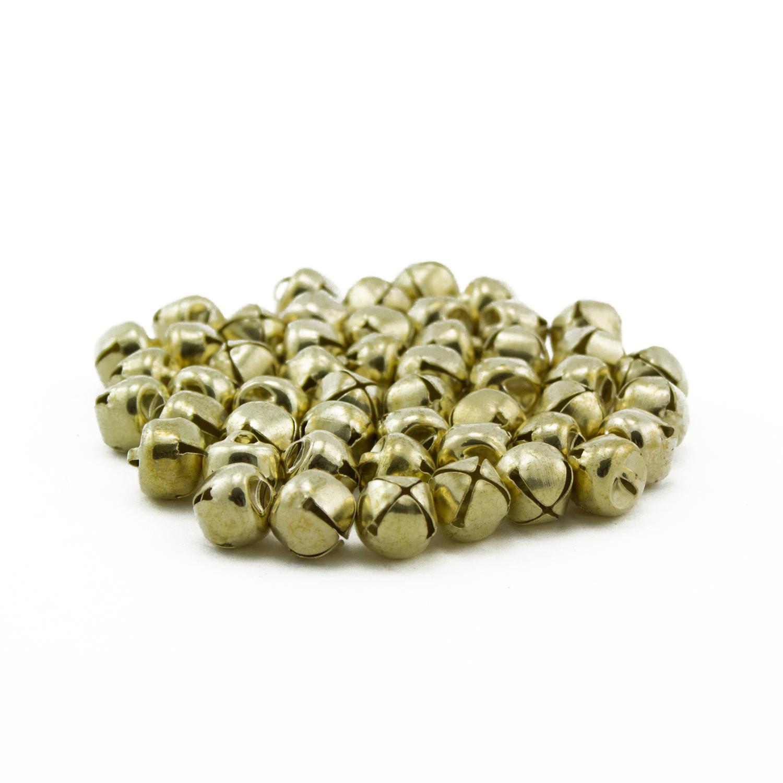 Gold Pack of 2 50 Handmade Small Craft Jingle Bells