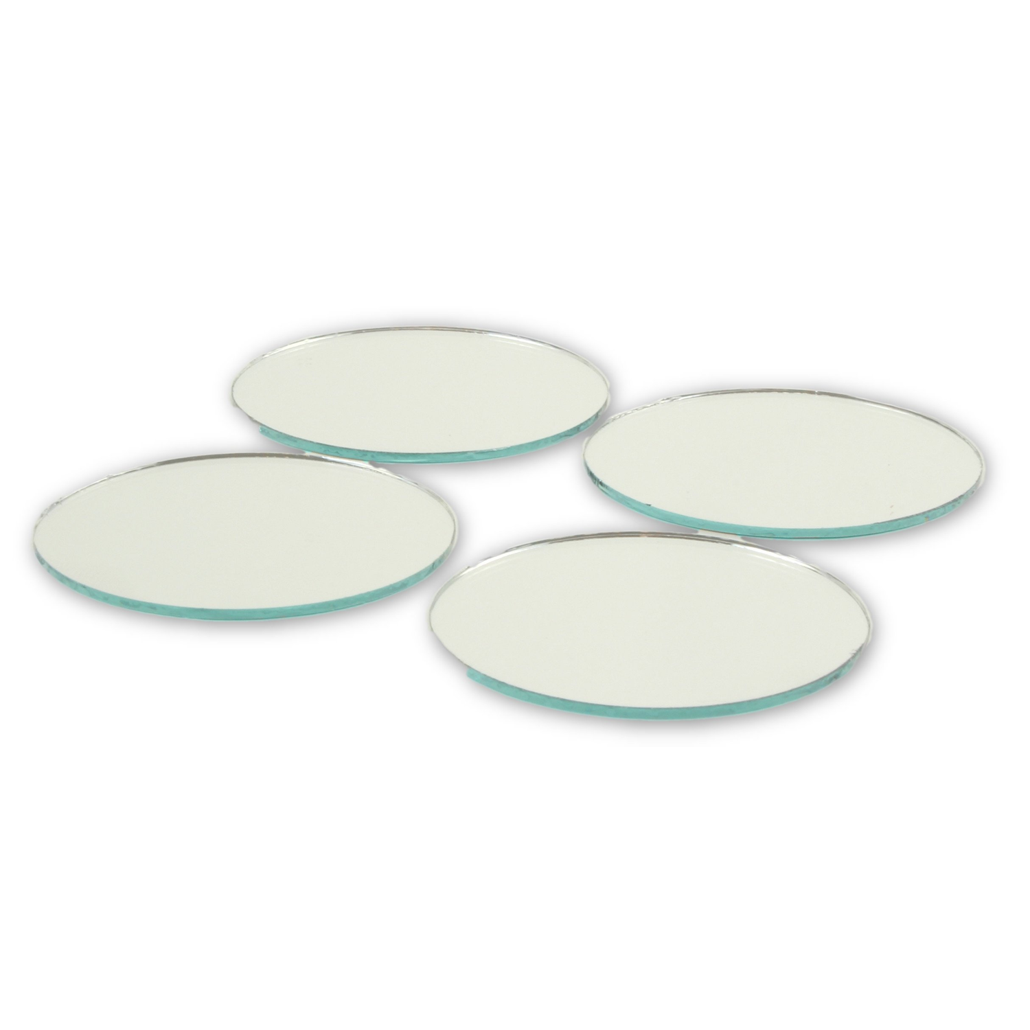 Small Mirror Pieces: 2 Inch Glass Craft Mini Small Round Mirrors 24 Pieces