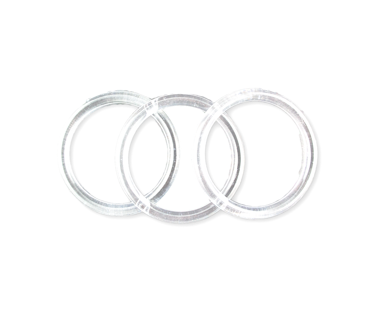 3 inch Clear Plastic Acrylic Heavy DutyCraft Rings 5//16 inch Thick 12 Pieces NEW