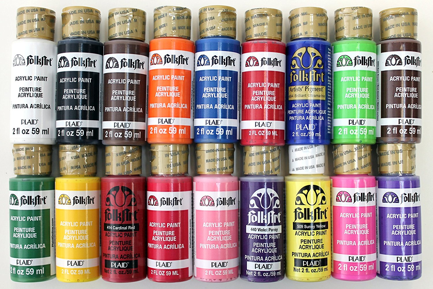 Details About Folkart Acrylic Paint In Assorted Colors Promofai Best Selling Colors I