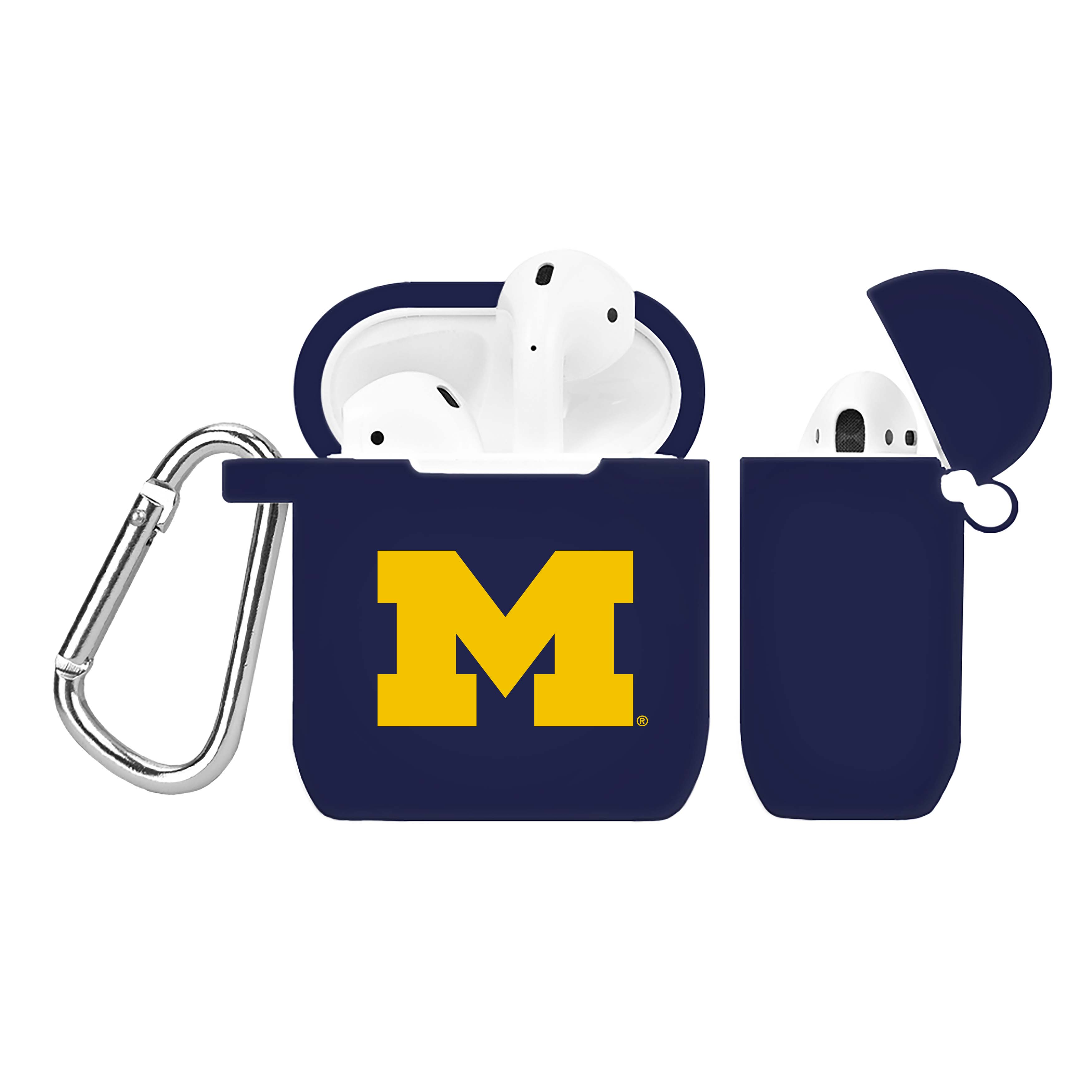 NCAA Michigan Wolverines Navy Blue AirPod Case