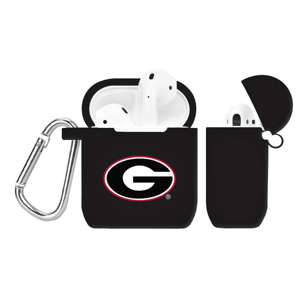 NCAA Georgia Bulldogs Black AirPod Case