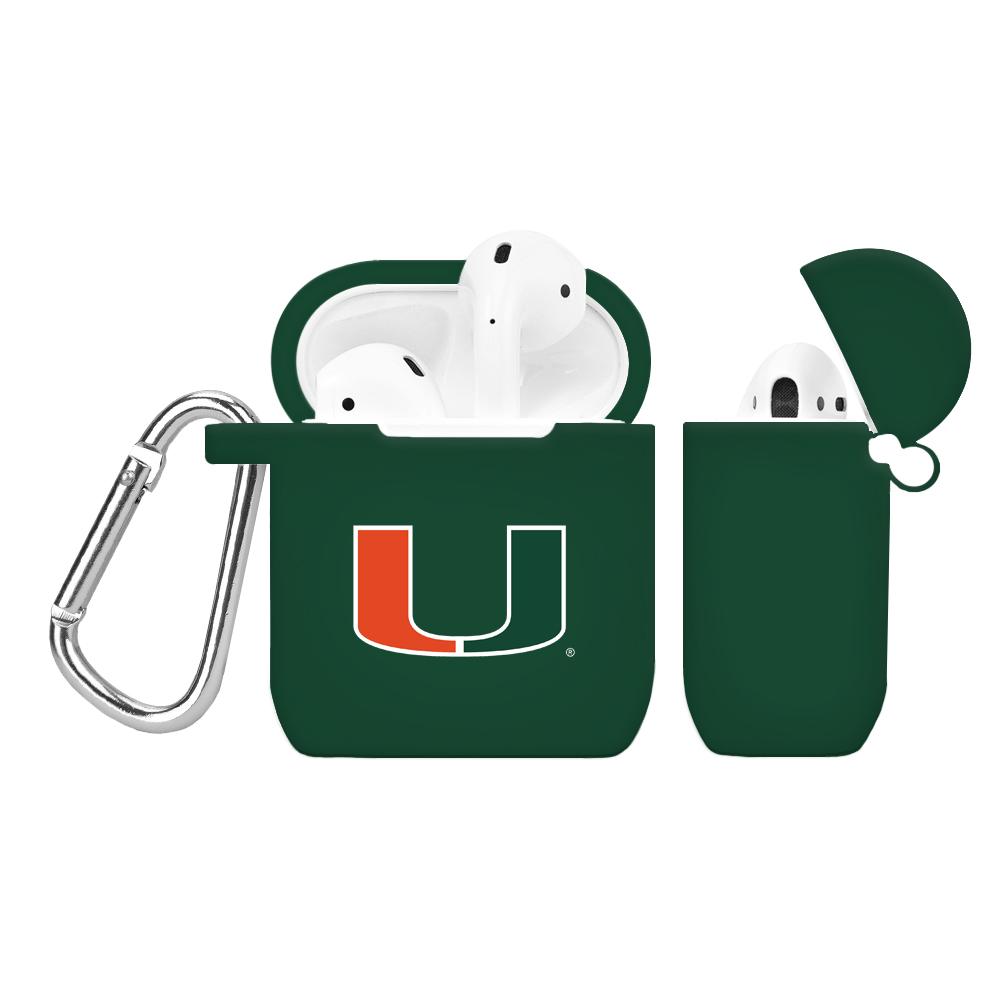NCAA Miami Hurricanes Green AirPod Case