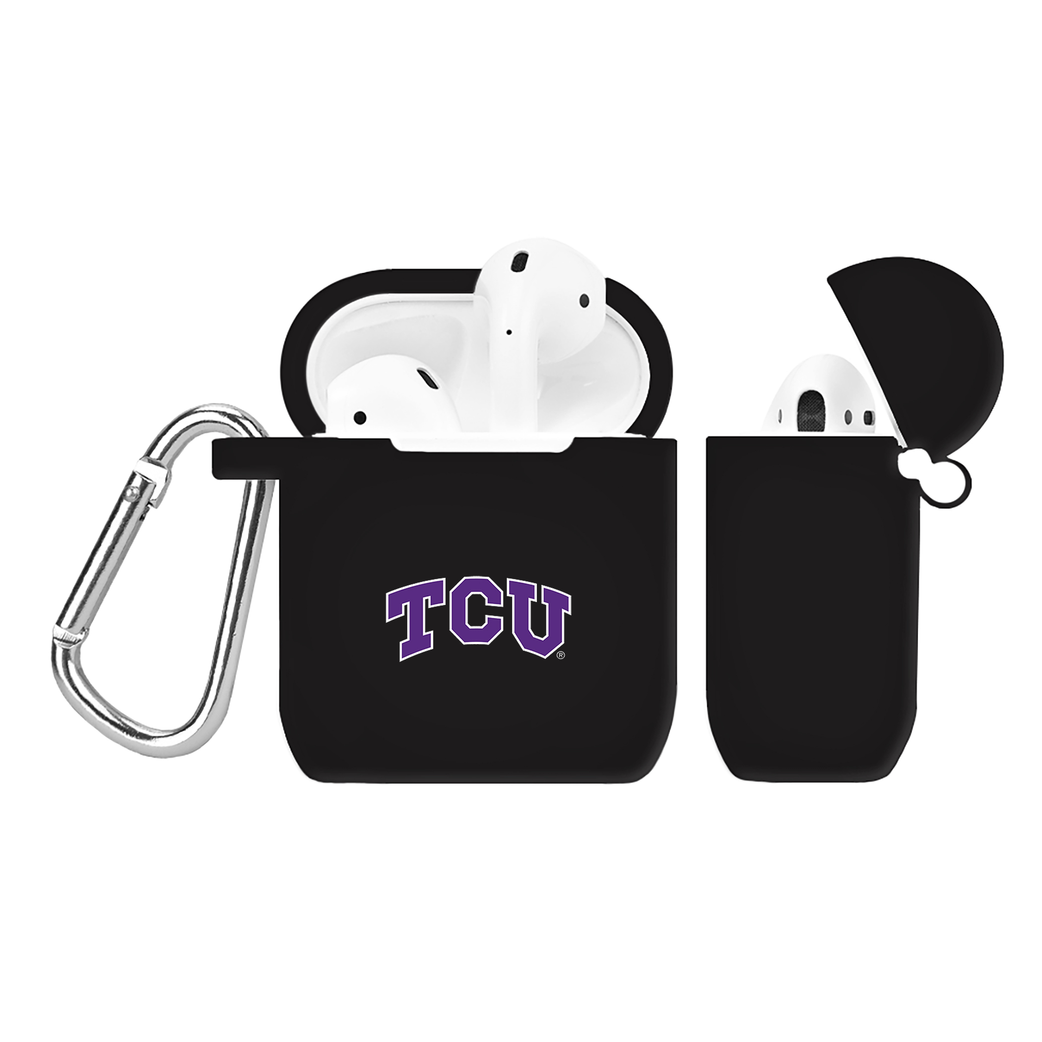 NCAA Texas Christian Horned Frogs Black AirPod Case