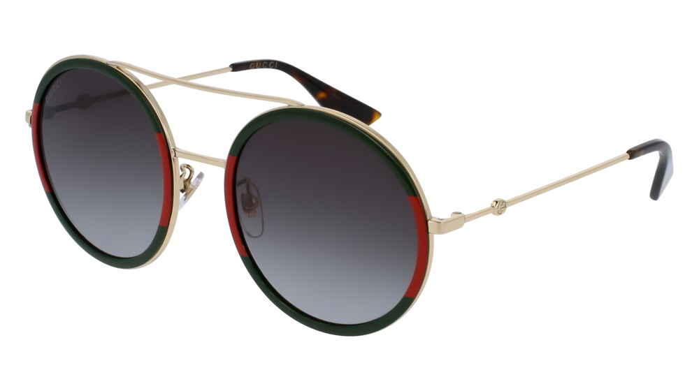 2f65d317b2ce Authentic NEW Gucci Sunglasses GG0061S-003 56mm Gold-Green Red ...