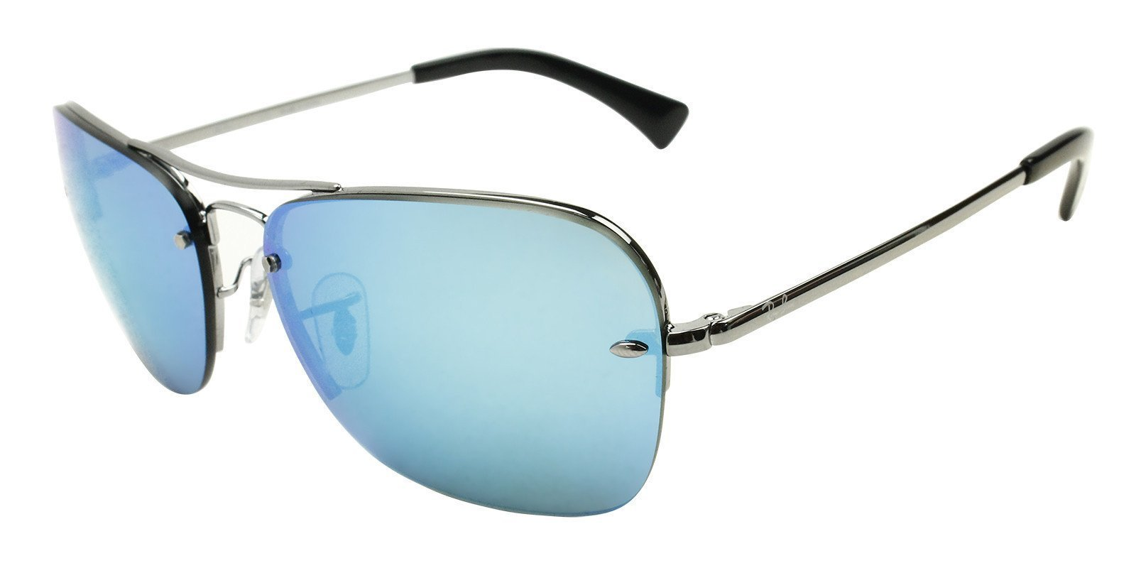 ece1d3aad1 Authentic Ray-Ban Aviator RB 3541 004 55 61mm Gunmetal   Blue Mirror ...