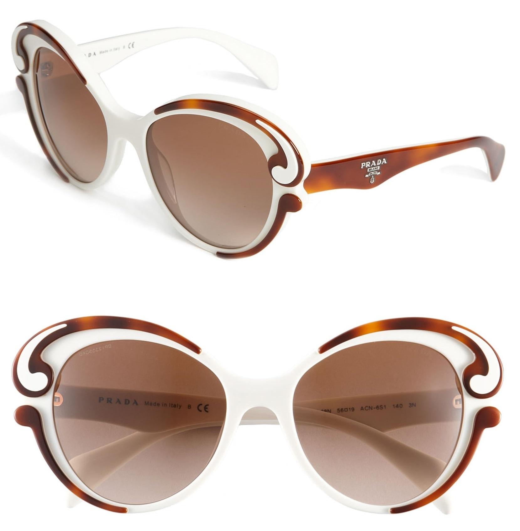 078ab72368231 Prada SPR 28N ACN6S1 Sunglasses Top Havana-Ivory   Brown Gradient Lens