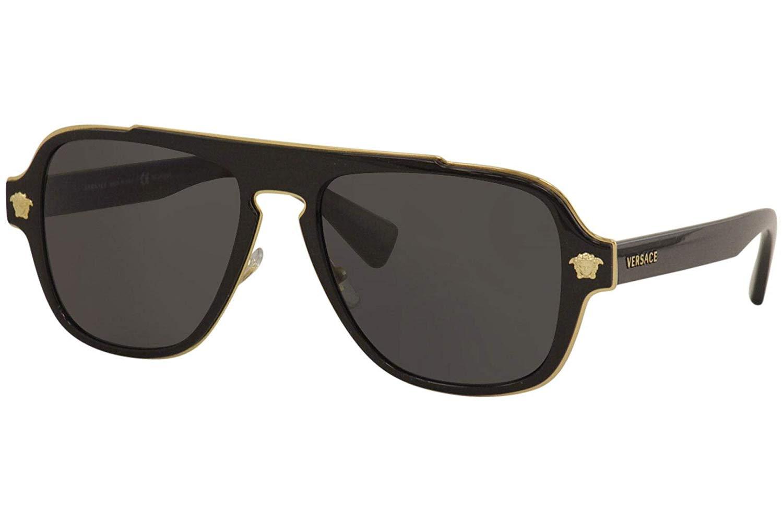 Versace Medusa Sunglasses VE 2199 1002//81 100281 Black Polarized Grey Lens New