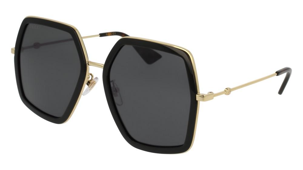 e2d60e8252b NEW Authentic Gucci Women s Sunglasses GG0106S-001 56mm Black-Gold ...