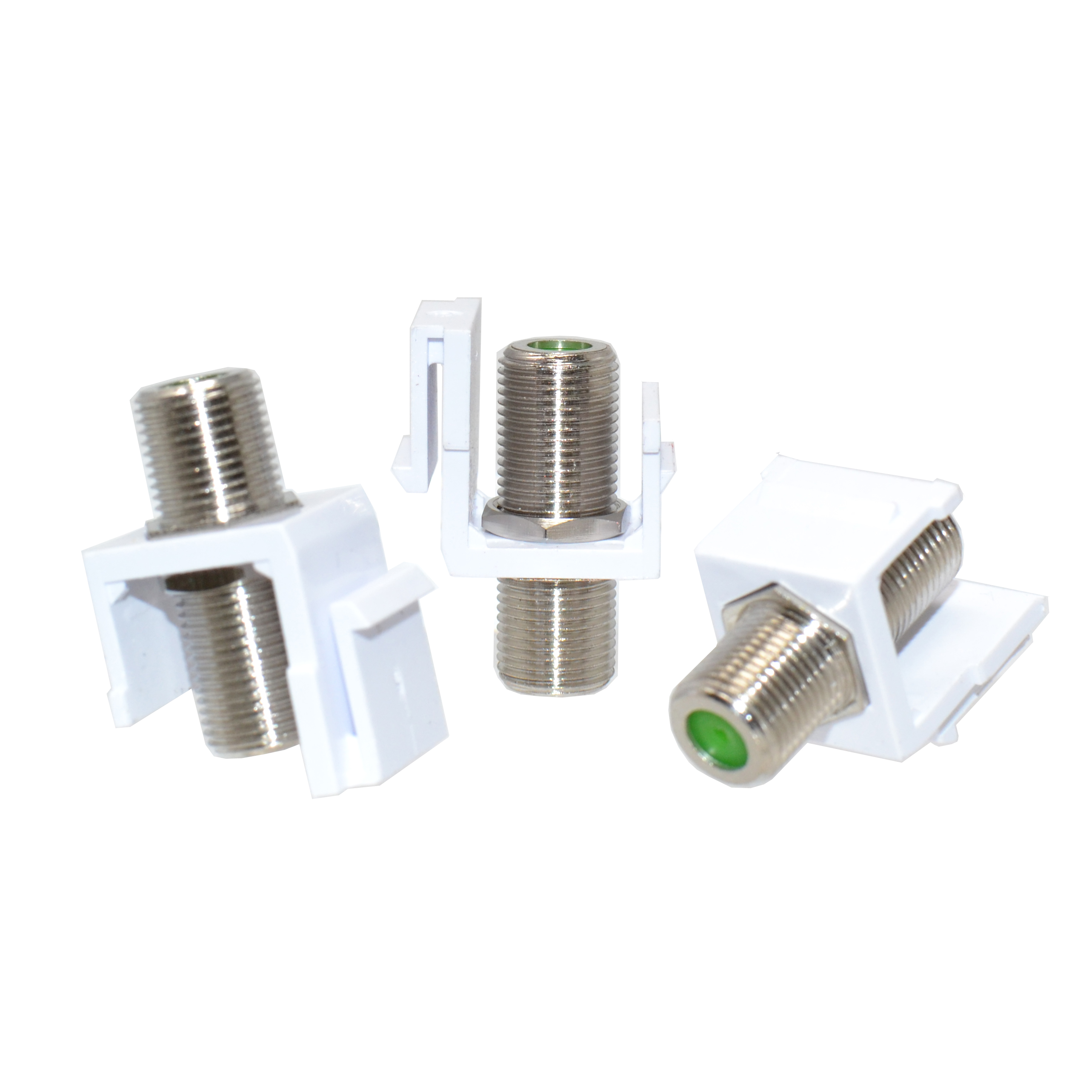 30pcs Ivory Snap-in F type Coax Connector Blank Insert for Keystone Wall Plate