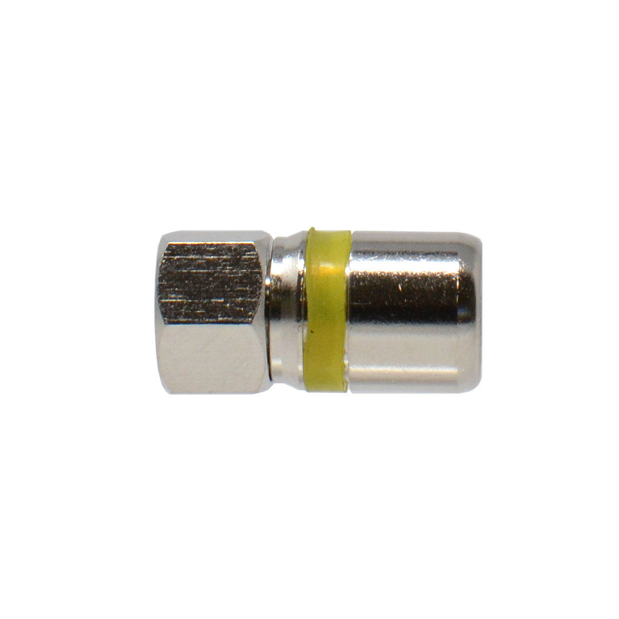 Universal F Type RG6 Coax Coaxial Adapter Compression Connector Fitting with Seal Yellow O Ring 5Pack