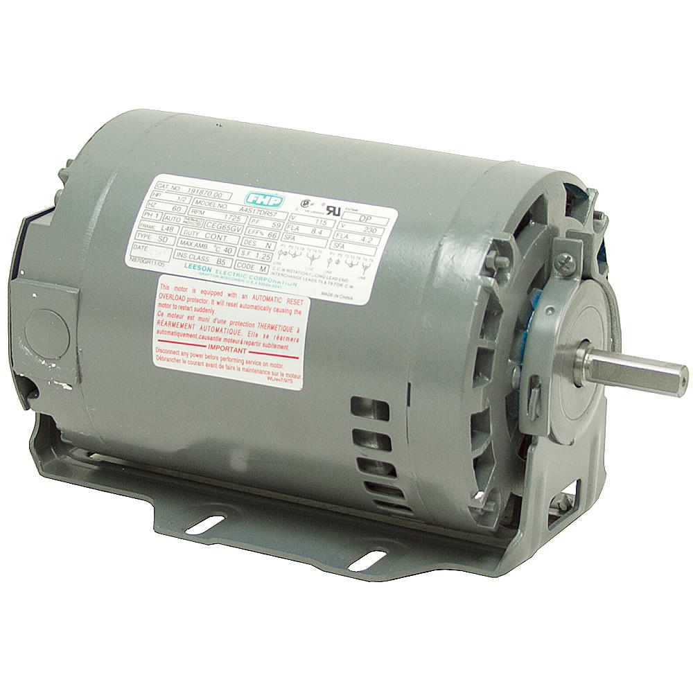 1//3 HP  1725 RPM  115//230 VOLT AC  48 FRAME FAN MOTOR  LEESON  10-2774