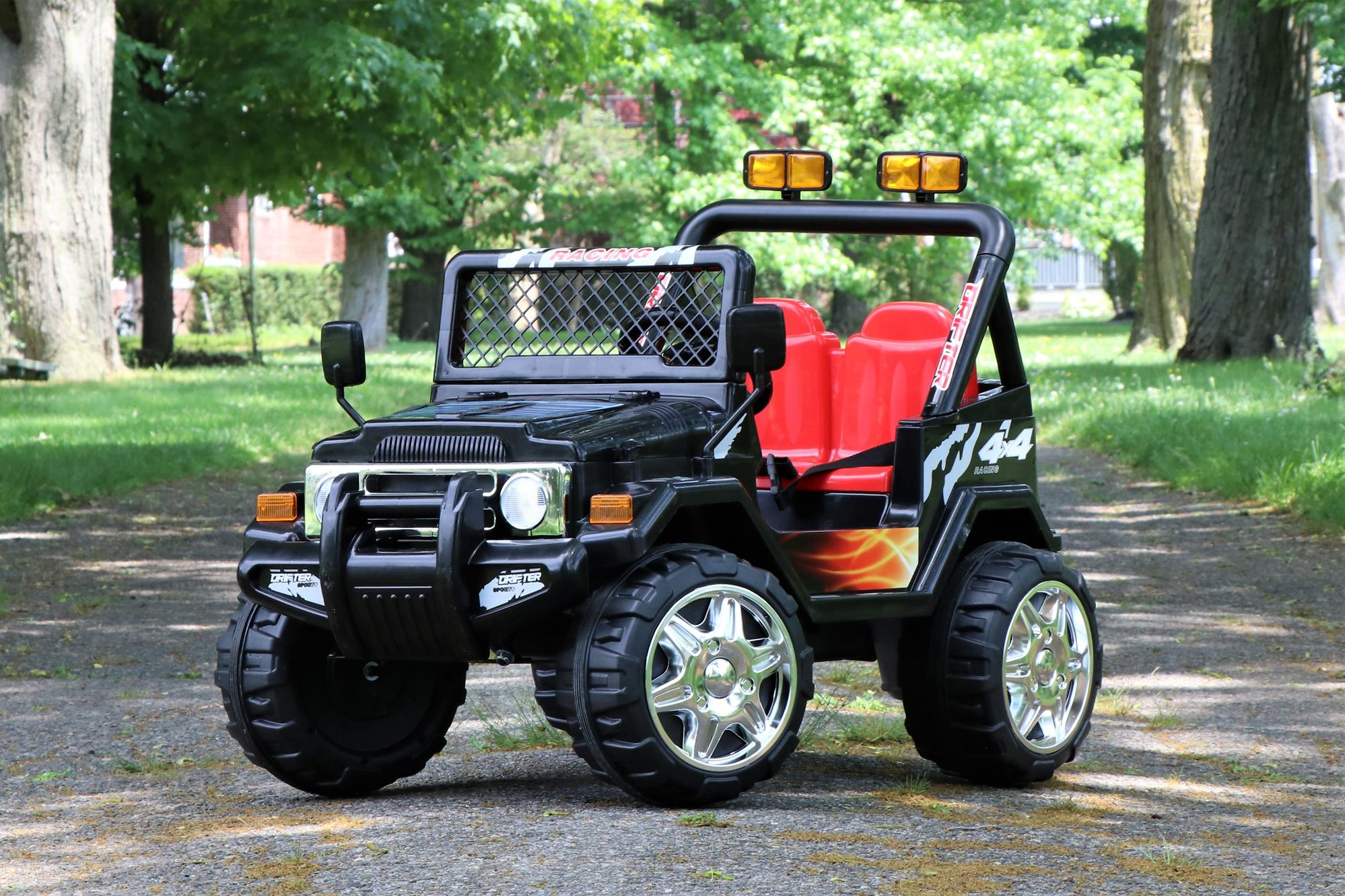 First Drive Jeep Truck 12v Dual Motor Ride On Car With Remote Control Black Ebay