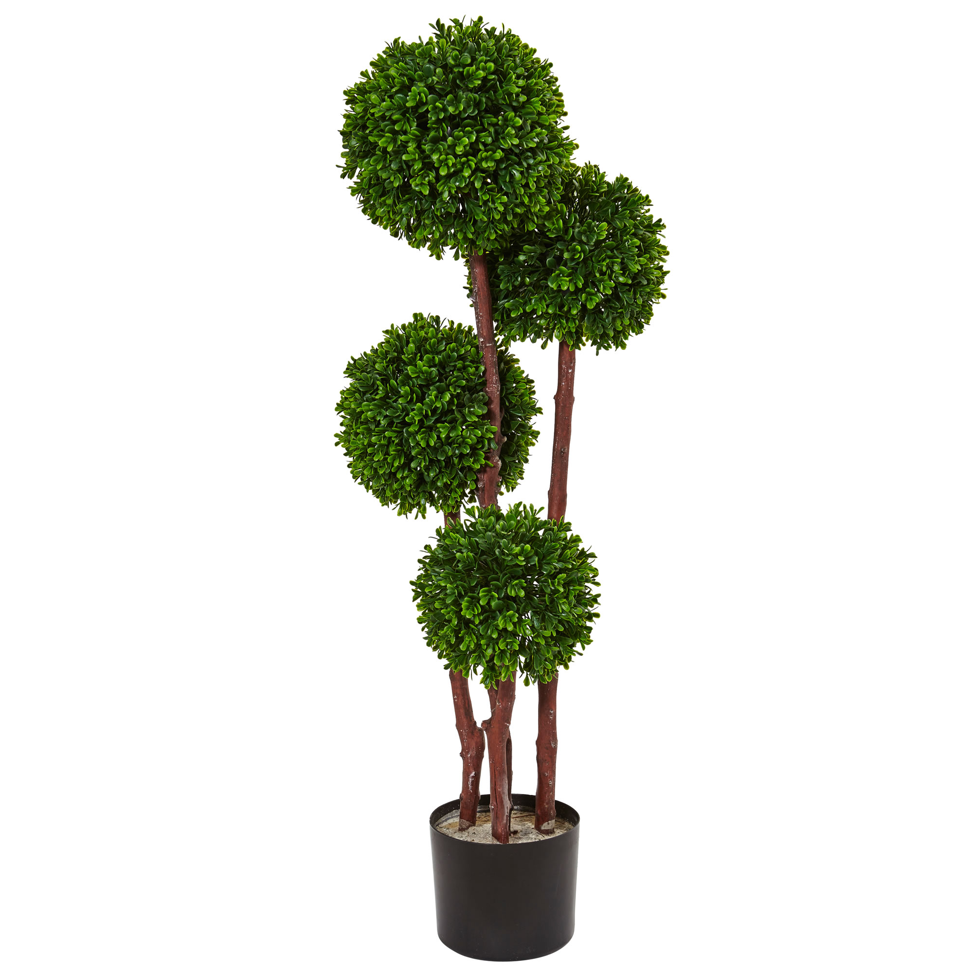 Boxwood Topiary Tree Uv Resistant Realistic Plant Nearly Natural 3 Home Decor Ebay