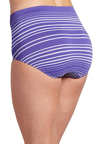 Jockey Women/'s Briefs Crystaline Purple Pinstripe Fuchsia 3-PACK Galileo